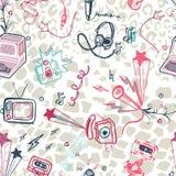 Fond sans couture d'impression de musique de vecteur Image libre de droits