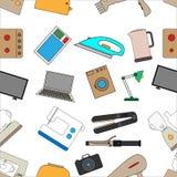 Fond sans couture d'un ensemble d'appareils ménagers Photographie stock