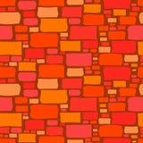 Fond sans couture d'un mur de briques de bande dessinée illustration de vecteur