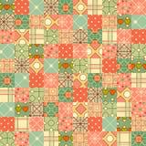 Fond sans couture dans le style de patchwork Images stock