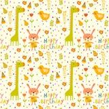 Fond sans couture de bébé de joyeux anniversaire Photos libres de droits