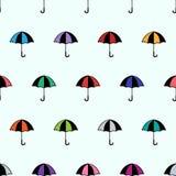 Fond sans couture de bande dessinée avec le parapluie Photo libre de droits