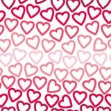 Fond sans couture de beaucoup de découpes des coeurs rouges et roses créant un modèle à jour illustration libre de droits