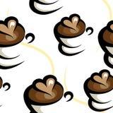 Fond sans couture de café illustration de vecteur
