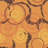 Fond sans couture de cercle, modèle sans couture avec des formes rondes Image stock
