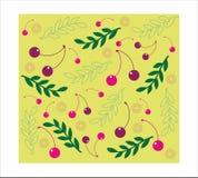 Fond sans couture de cerise décorative Images libres de droits