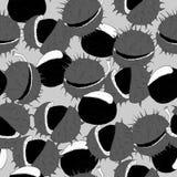 Fond sans couture de châtaigne monochrome Image stock