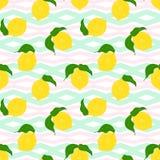 Fond sans couture de citron illustration de vecteur