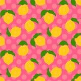 Fond sans couture de citron illustration libre de droits