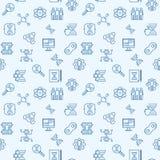 Fond sans couture de clonage d'ensemble Configuration de vecteur illustration stock