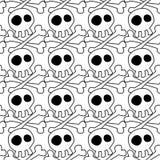 Fond sans couture de crânes blancs illustration libre de droits