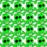 Fond sans couture de crânes de Halloween illustration stock