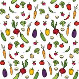 Fond sans couture de cuisine des légumes Photographie stock libre de droits