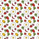 Fond sans couture de cuisine des légumes Images stock