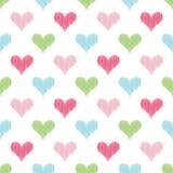 Fond sans couture de griffonnage de coeur Photographie stock libre de droits