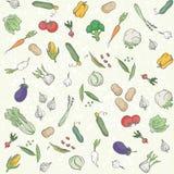 Fond sans couture de légumes Photographie stock libre de droits