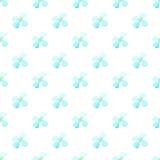Fond sans couture de lumière de modèle de vecteur de fleur bleue blanche d'aquarelle Petites marguerites été, champ de marguerite Image libre de droits