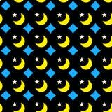 Fond sans couture de lunes et d'étoiles de nuit illustration libre de droits