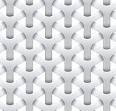 Fond sans couture de maille Texture géométrique blanche Illustration Libre de Droits