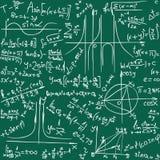Fond sans couture de maths image stock