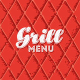 Fond sans couture de menu de gril Photo libre de droits