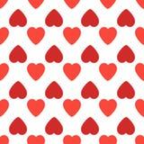 Fond sans couture de modèle avec des coeurs Illustration de jour de valentines illustration libre de droits