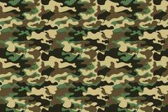 Fond sans couture de modèle de camouflage Bannière sans couture horizontale Copie de masquage de répétition de camo de style clas Photographie stock