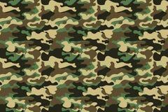 Fond sans couture de modèle de camouflage Bannière sans couture horizontale Copie de masquage de répétition de camo de style clas Image libre de droits