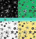 Fond sans couture de modèle d'étoile Photographie stock libre de droits