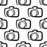 Fond sans couture de modèle d'appareil-photo d'ensemble Photo stock