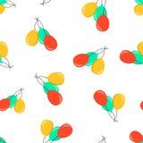 Fond sans couture de modèle d'icône de ballon à air Concept v d'affaires Image libre de droits
