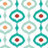 Fond sans couture de modèle d'ikat à chaînes coloré Image libre de droits