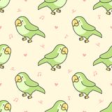 Fond sans couture de modèle d'oiseau mignon de perroquet illustration de vecteur