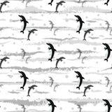 Fond sans couture de modèle de dauphins, copie d'été pour le textile et design de carte illustration libre de droits