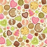 Fond sans couture de modèle de biscuits colorés illustration stock