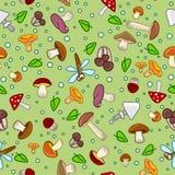 Fond sans couture de modèle de champignon Photo stock