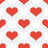 Fond sans couture de modèle de coeur Photos stock