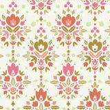 Fond sans couture de modèle de damassé florale Images libres de droits