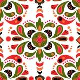 Fond sans couture de modèle de damassé florale Image libre de droits