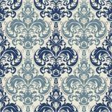 Fond sans couture de modèle de damassé Ornement démodé de luxe classique de damassé, texture sans couture de victorian royal Photo stock