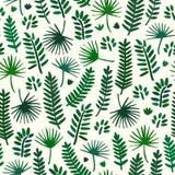 Fond sans couture de modèle de feuille de palmier Modèle de textile de feuille de palmier Image stock
