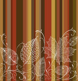 Fond sans couture de modèle de feuilles d'automne de vintage. illustration de vecteur
