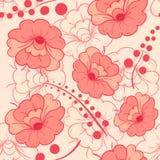 Fond sans couture de modèle de fleur de couleur rose et rouge Photographie stock