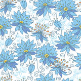 Fond sans couture de modèle de fleurs merveilleuses Images stock