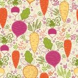 Fond sans couture de modèle de légumes à racine Photographie stock libre de droits