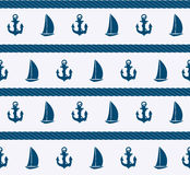 Fond sans couture de modèle de mer abstraite. Vecteur Image libre de droits