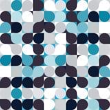 Fond sans couture de modèle de mosaïque de cercle de vecteur Photo stock