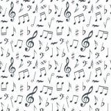 Fond sans couture de modèle de notes musicales Photographie stock