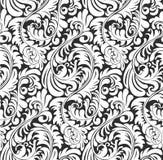 Fond sans couture de modèle de papier peint de fougère Photos stock