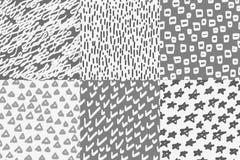 Fond sans couture de modèle de papier peint de vecteur Tiré par la main Photos stock
